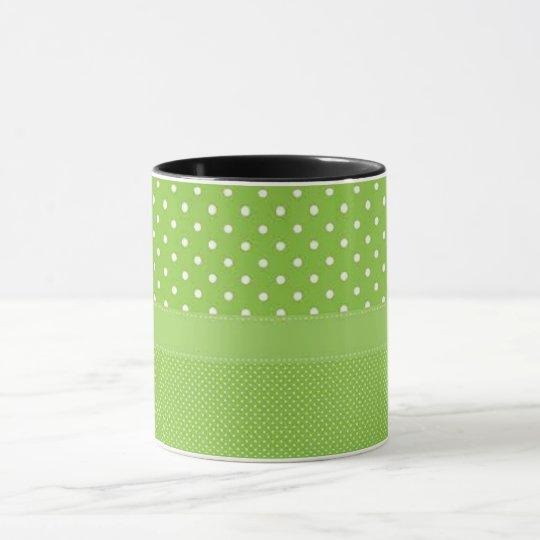 Green & White Polka Dots Mug