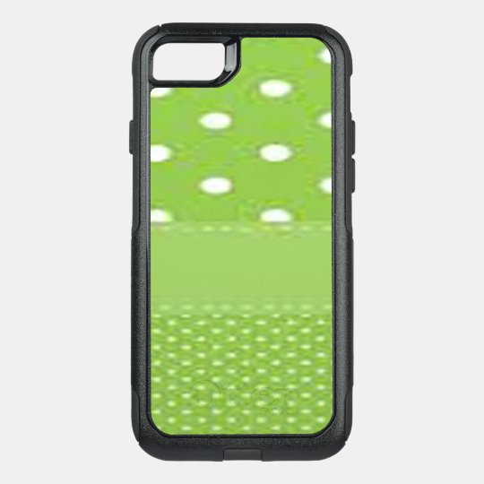 Green & White Polka Dots OtterBox Commuter iPhone 8/7 Case