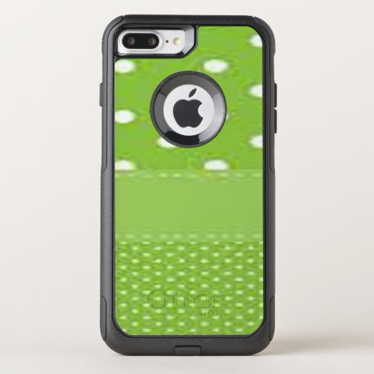 Green & White Polka Dots OtterBox Commuter iPhone 8 Plus/7 Plus Case