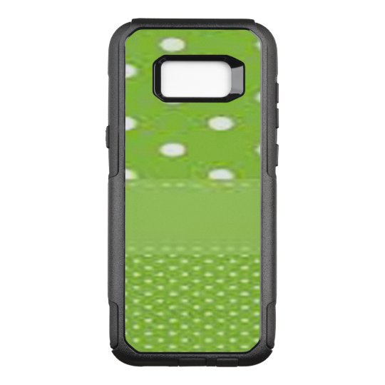 Green & White Polka Dots OtterBox Commuter Samsung Galaxy S8+ Case