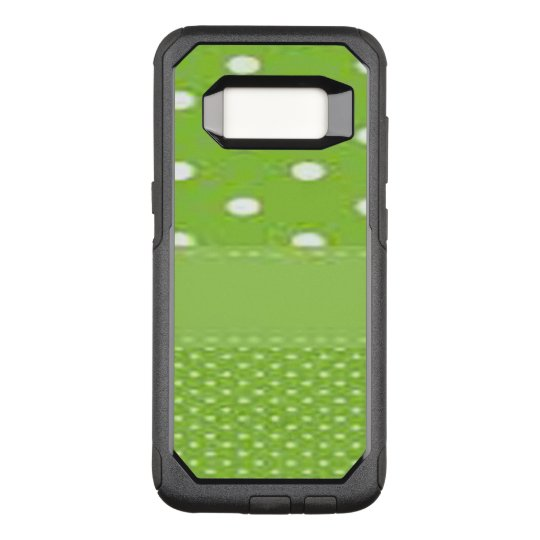 Green & White Polka Dots OtterBox Commuter Samsung Galaxy S8 Case