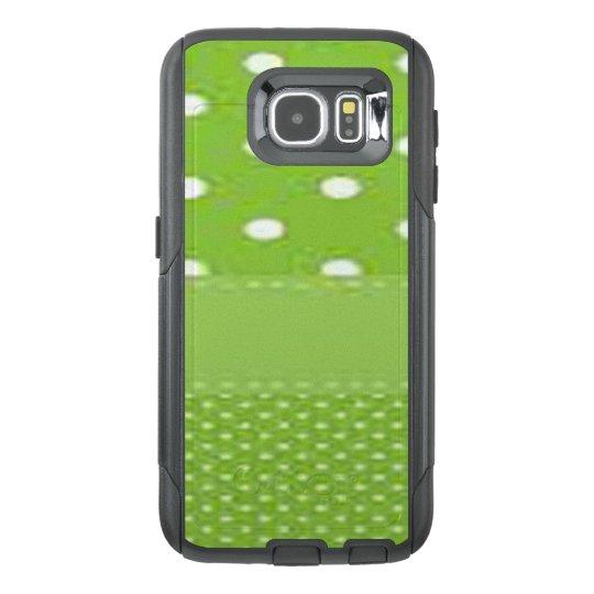 Green & White Polka Dots OtterBox Samsung Galaxy S6 Case