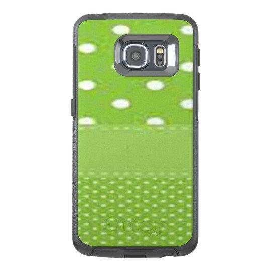 Green & White Polka Dots OtterBox Samsung Galaxy S6 Edge Case