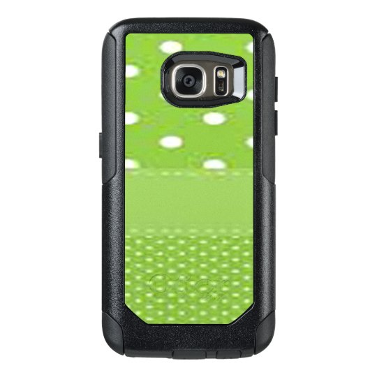 Green & White Polka Dots OtterBox Samsung Galaxy S7 Case