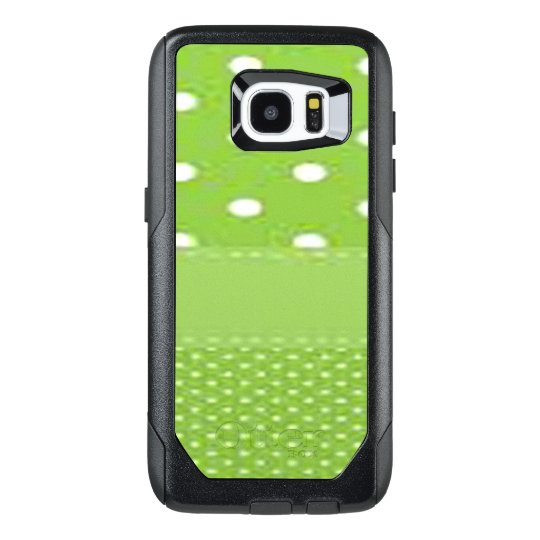 Green & White Polka Dots OtterBox Samsung Galaxy S7 Edge Case