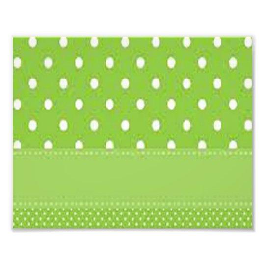 Green & White Polka Dots Photo Print