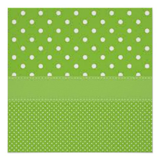 Green & White Polka Dots Poster
