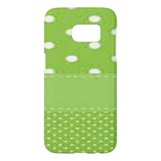 Green & White Polka Dots Samsung Galaxy S7 Case