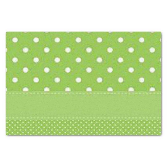 Green & White Polka Dots Tissue Paper