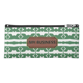 Green White Star Line Pencil Cases