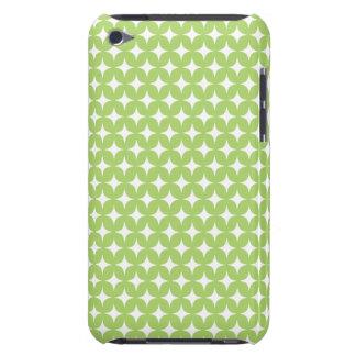 Green White Stars Diamond Monogram Pattern iPod Touch Case-Mate Case