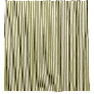 Green White Striped Bathroom Shower Curtain Tub