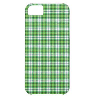 Green white tartan plaid iPhone 5C cover