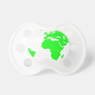 Green White World Map Pacifier