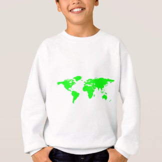 Green White World Map Sweatshirt