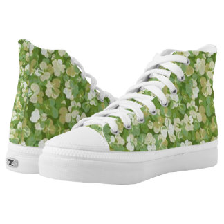 Green Wild Flower Floral Shoes