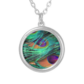 Green Willow Flumes Silver Plated Necklace