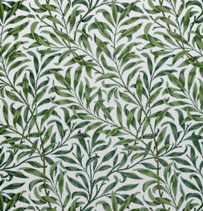 Green Willow Leaves William Morris Shower Curtain