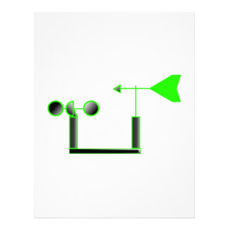Green Wind Speed and Weather Vane Letterhead