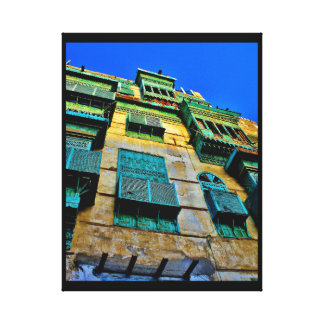 Green Window Covers Canvas Print