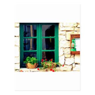 Green window. post cards