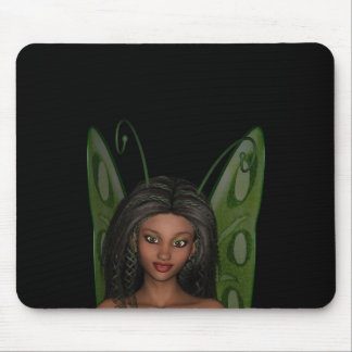 Green Wing Lady Faerie 1 - 3D Fairy - Mouse Pad