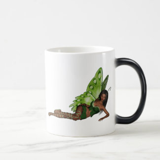 Green Wing Lady Faerie 4 - 3D Fairy - Morphing Mug