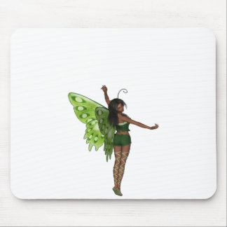 Green Wing Lady Faerie 8 - 3D Fairy - Mouse Pad