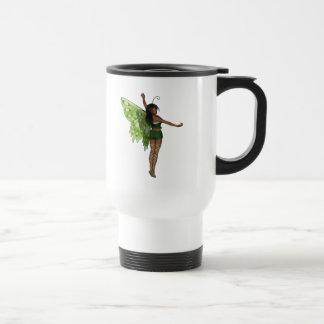 Green Wing Lady Faerie 8 - 3D Fairy - Mug
