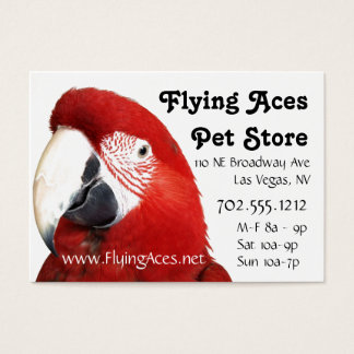 Green Wing Macaw Business Card