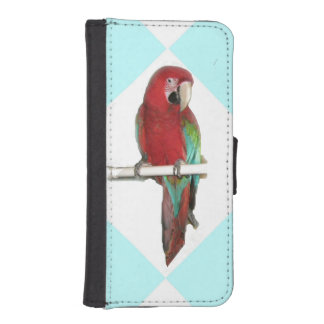 Green Wing Macaw iPhone 5 Wallet