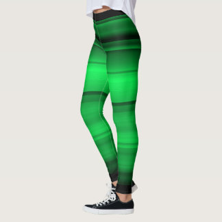 Green with black shades / stripes leggings