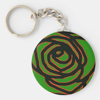 Green With Envy Basic Round Button Keychain