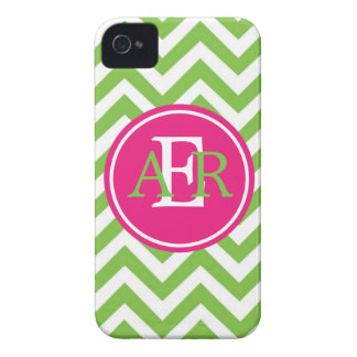 Green with Envy Monogram Case-Mate iPhone 4 Case