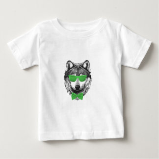Green Wolf Baby T-Shirt