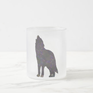 Green Wolf Frosted Mug