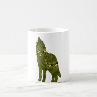 Green Wolf Mug