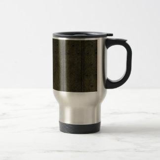 Green wood 15 oz stainless steel travel mug