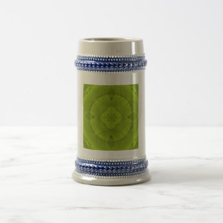 Green wood abstract pattern 18 oz beer stein