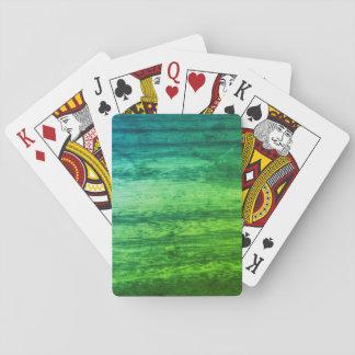 Green Wood Effect Poker Deck