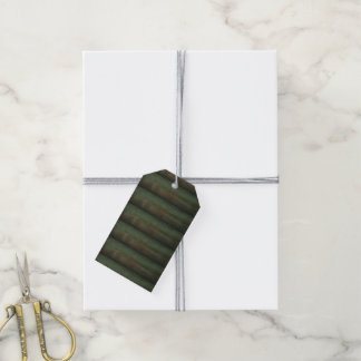 Green wood gift tags