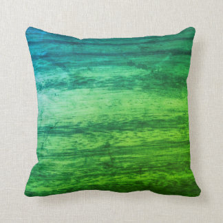 Green Wood Texture Throw Pillow