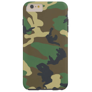 Green Woodland Camouflage Tough iPhone 6 Plus Case
