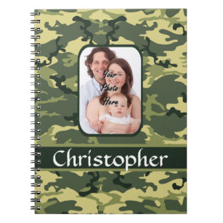Green woodland forest camouflage notebooks