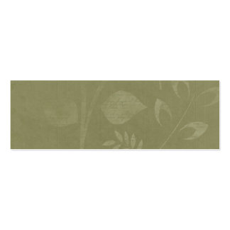 Green Woodland Leaves Paint script Business Card