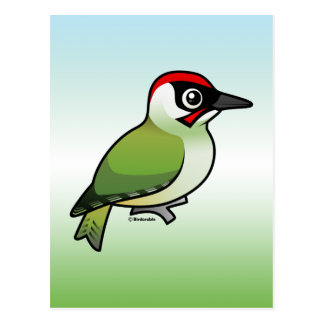Green Woodpecker Postcard