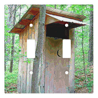 GREEN WOODS OUTHOUSE WALLL SWITCH LIGHT SWITCH COVER