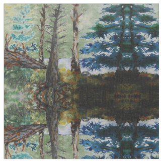 Green Woods Pattern Fabric