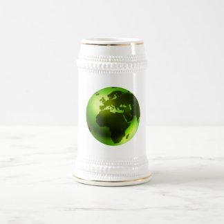 Green World Beer Stein 18 Oz Beer Stein