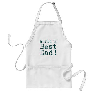 Green World's Best Dad Standard Apron